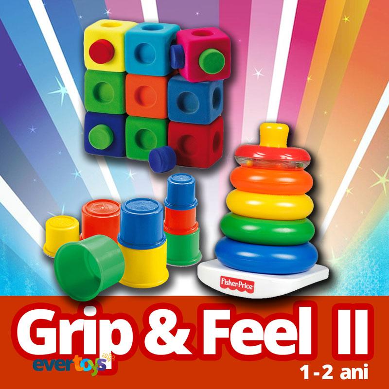 EduBox Grip & Feel 2 - colectie jucarii educative 1-2 ani - Evertoys