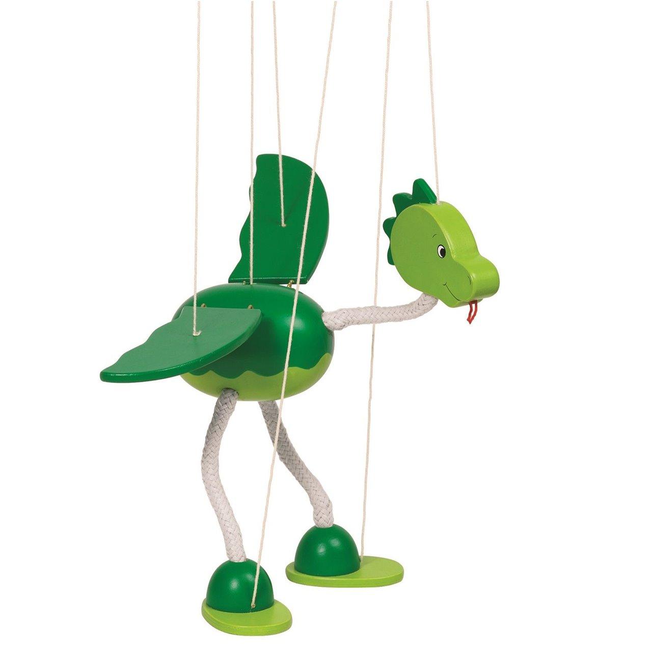 Marionete Goki lemn dinozaur