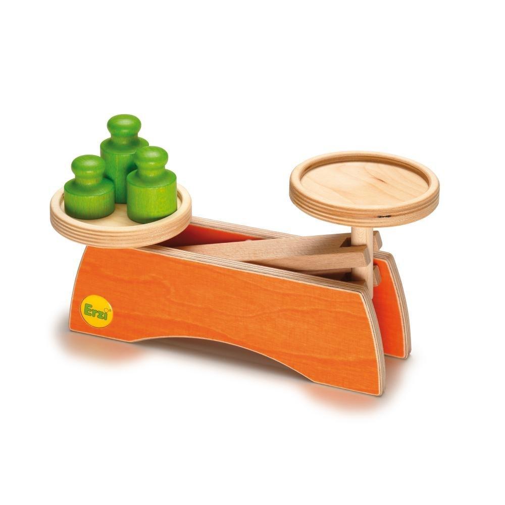 Cantar cu greutati jucarie lemn premium