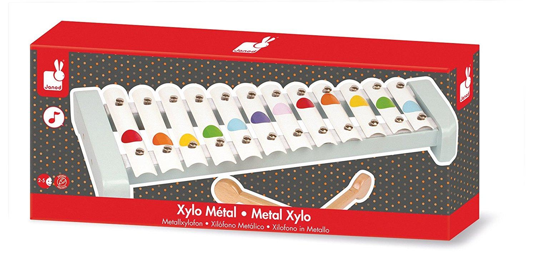 Xilofon metal confetti Janod 2