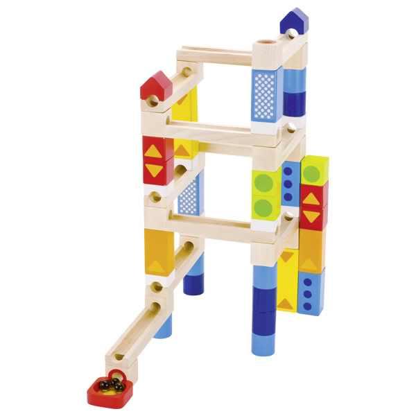 Circuit bile multietaj jucarie lemn premium Goki 4