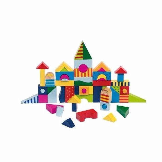 Build and Puzzle - cuburi constructii si puzzle lemn jucarie Goki 2