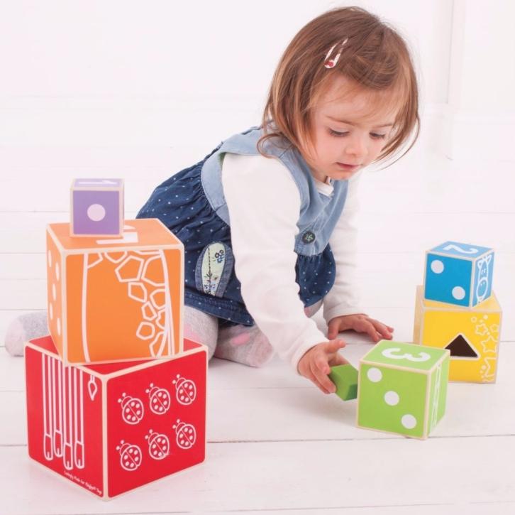 Turn educativ lemn bebe Bigjigs 1