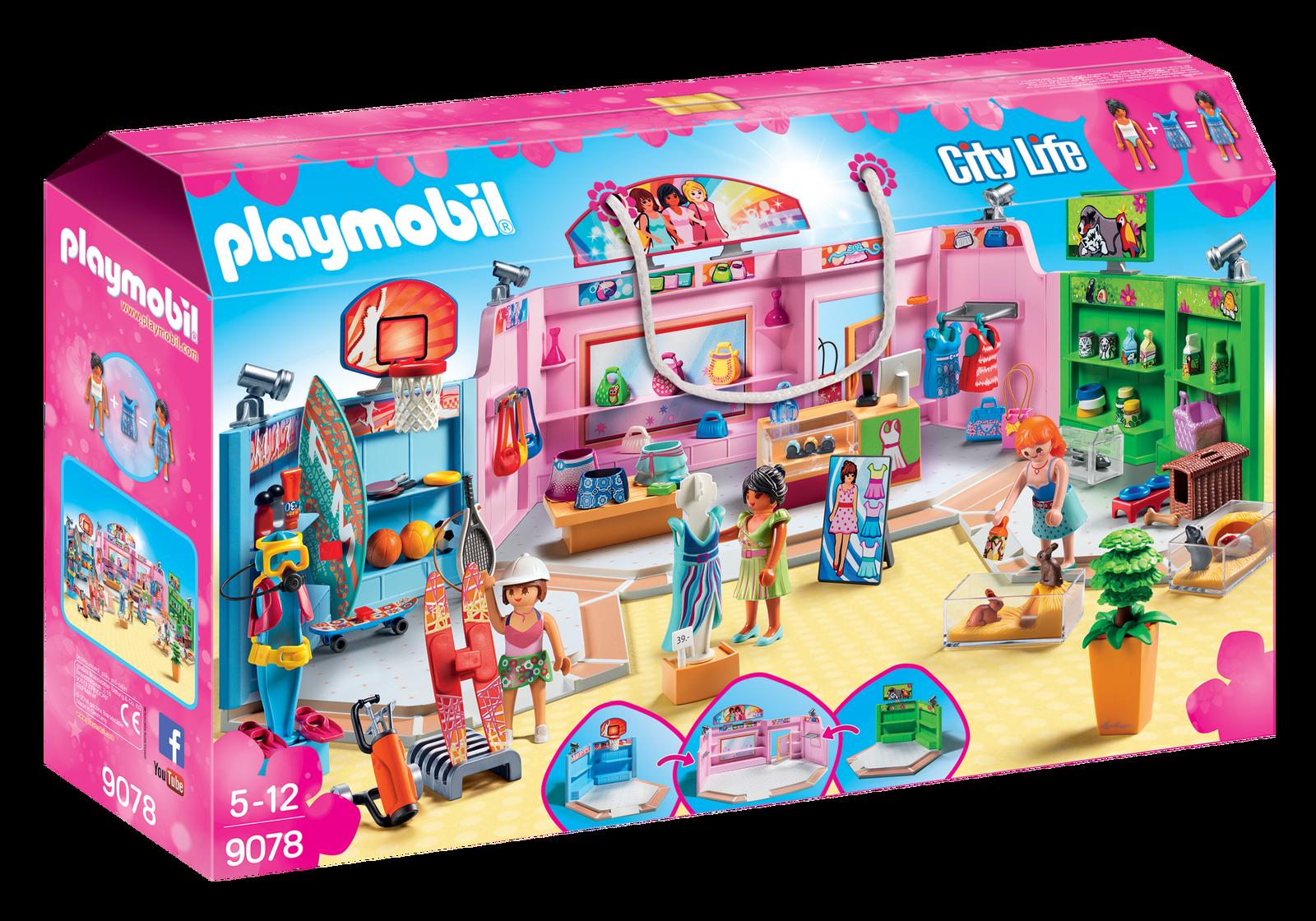Centru comercial - PLAYMOBIL City Life - PM9078 - 2