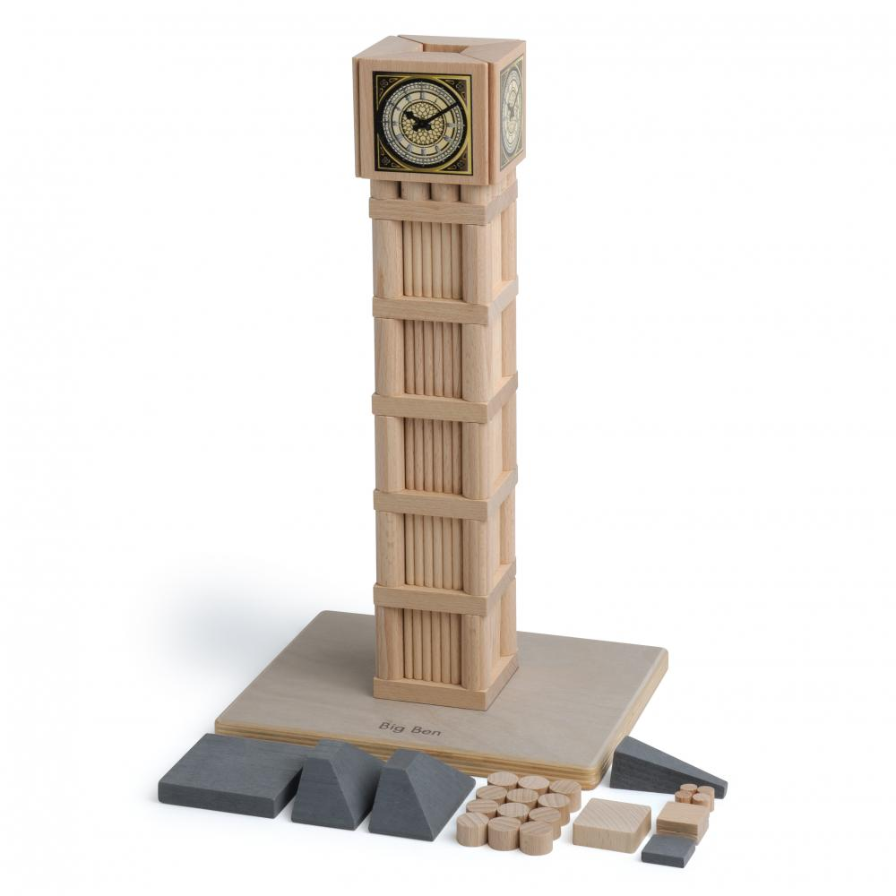 Set Arhitectura din lemn - Big Ben - jucarie lemn natur premium Erzi Germania 2