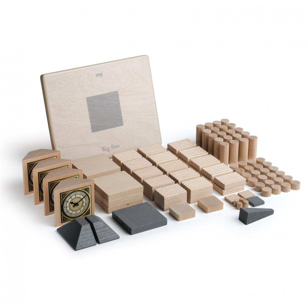 Set Arhitectura din lemn - Big Ben - jucarie lemn natur premium Erzi Germania 3