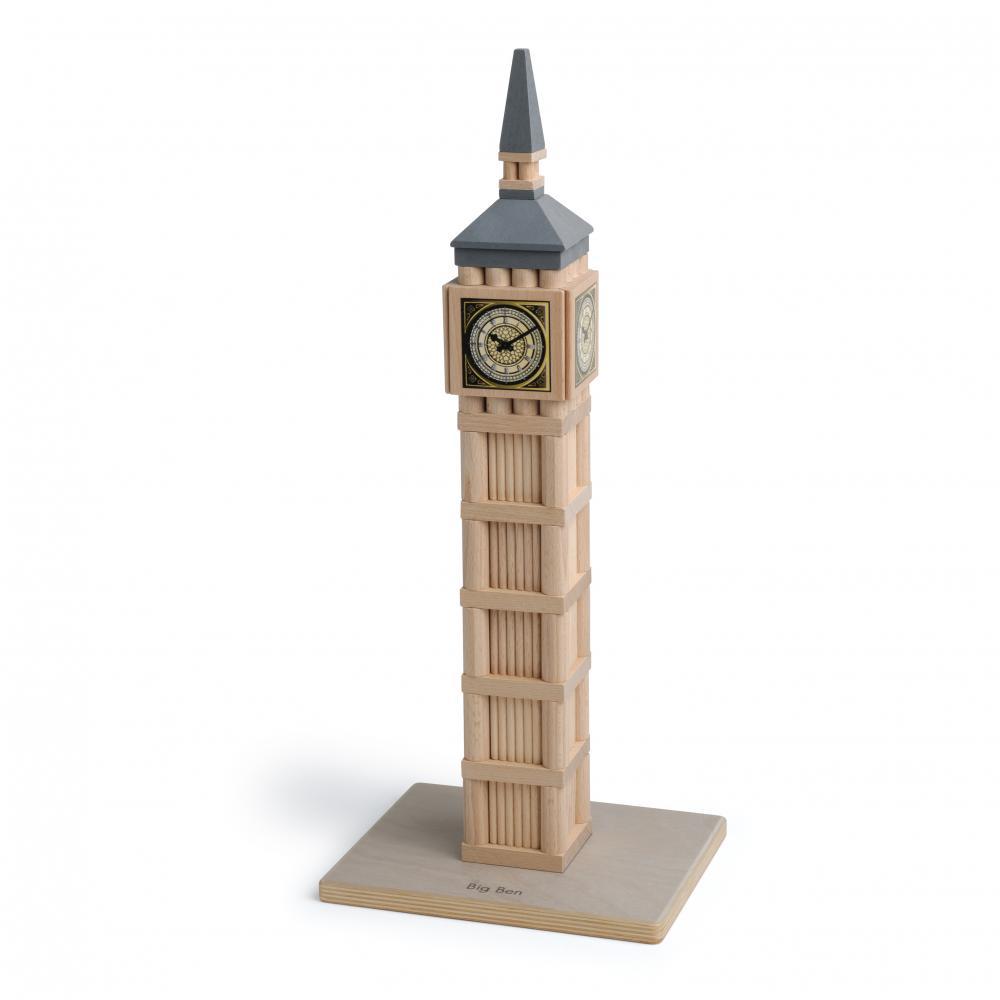 Set Arhitectura din lemn - Big Ben - jucarie lemn natur premium Erzi Germania