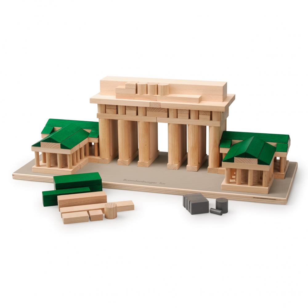 Set Arhitectura din lemn - Poarta Brandenburg - jucarie lemn natur premium Erzi Germania 2
