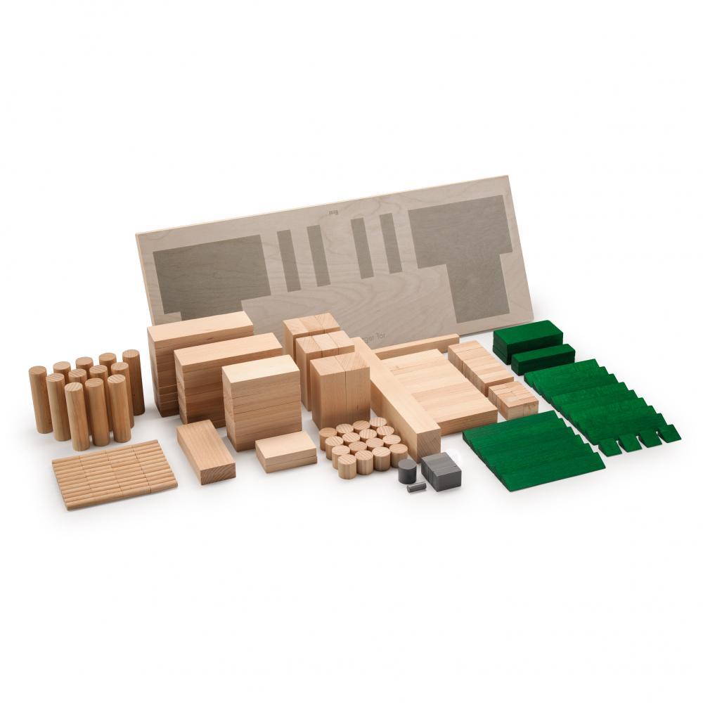Set Arhitectura din lemn - Poarta Brandenburg - jucarie lemn natur premium Erzi Germania 3