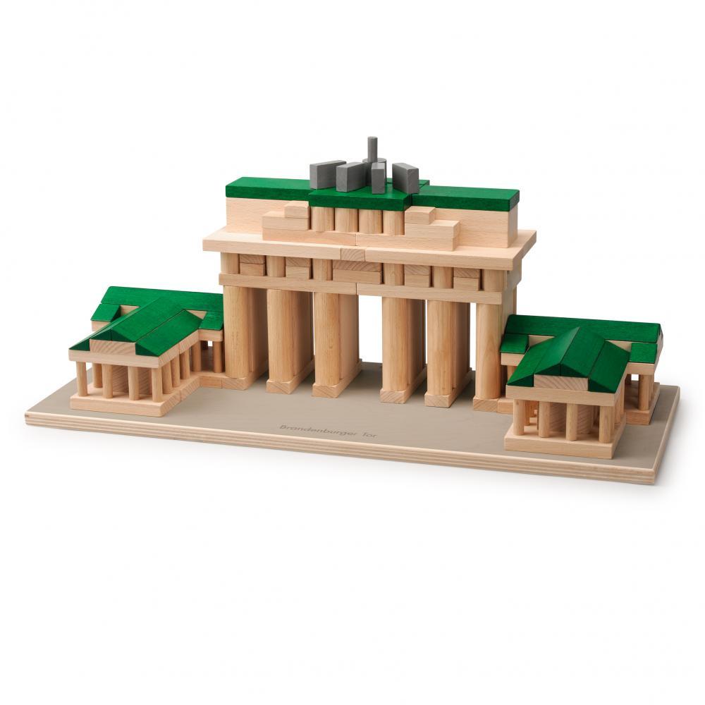 Set Arhitectura din lemn - Poarta Brandenburg - jucarie lemn natur premium Erzi Germania