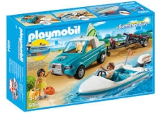 Barca de Viteza cu Surfer - PLAYMOBIL Summer Fun - PM6864