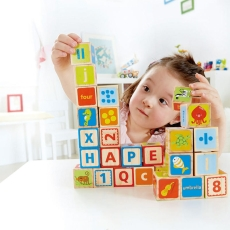 Cuburi ABC - set educativ lemn