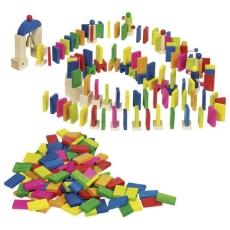 Domino multicolor lemn