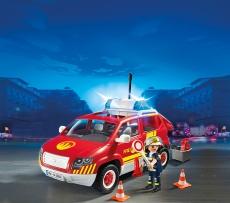 Maşina Şef Pompieri cu lumini şi sunete - PLAYMOBIL Fire Brigade - 5364