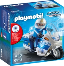 Motocicleta Politiei cu Led - PLAYMOBIL Police - PM6923