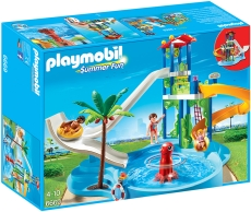 Parc acvatic cu tobogane - PLAYMOBIL Summer Fun - 6669