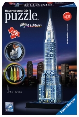 Puzzle 3D, Clădirea Chrysler, iluminat LED, 216 piese