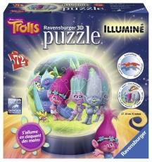 Puzzle 3D, Trolls, iluminat LED, 72 PIESE
