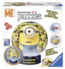 Puzzle 3D, Minions, iluminat LED, 72 piese