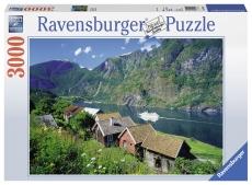Puzzle FIORDUL SOGNEFJORD, NORVEGIA 3000 piese - Ravensburger