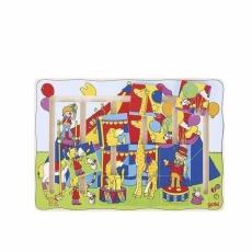 Circul Colorat - Puzzle Lemn Glisant