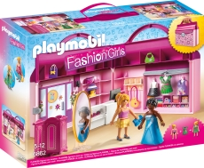 SET MOBIL BUTIC CU HAINE - PLAYMOBIL Take Along Fashion Boutique - PM6862