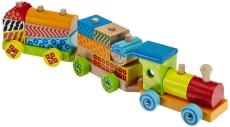 Trenulețul formelor din lemn