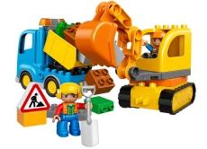 Camion si excavator (10812) - pe senile LEGO DUPLO
