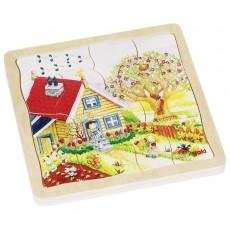 2x Puzzle Lemn cu 4 straturi -