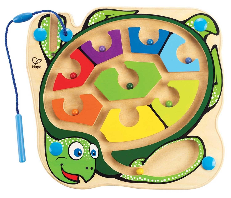Labirint magnetic - Testoasa colorata - jucarie magnetica Hape Germania
