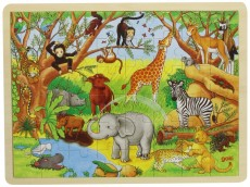 Puzzle Lemn XL - 48 piese - Animale din Africa