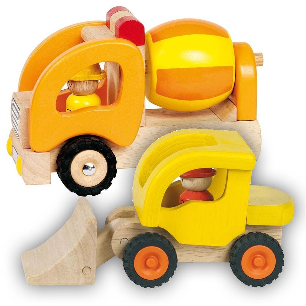 Bundle-betoniera-buldozer-santier-lemn-natur-jucarie-premium-Goki