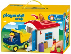 Camion cu Garaj - PLAYMOBIL 1. 2. 3. - 6759