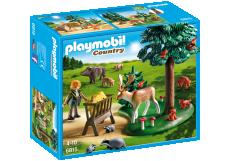 Teren împădurit şi animale - PLAYMOBIL Country - 6815