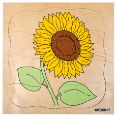 Puzzle lemn multistrat - Floarea Soarelui