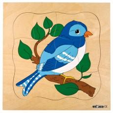 Puzzle lemn multistrat - Viaţa unei păsări