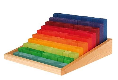 Set educativ lemn - masurare si culori - Grimms Germania