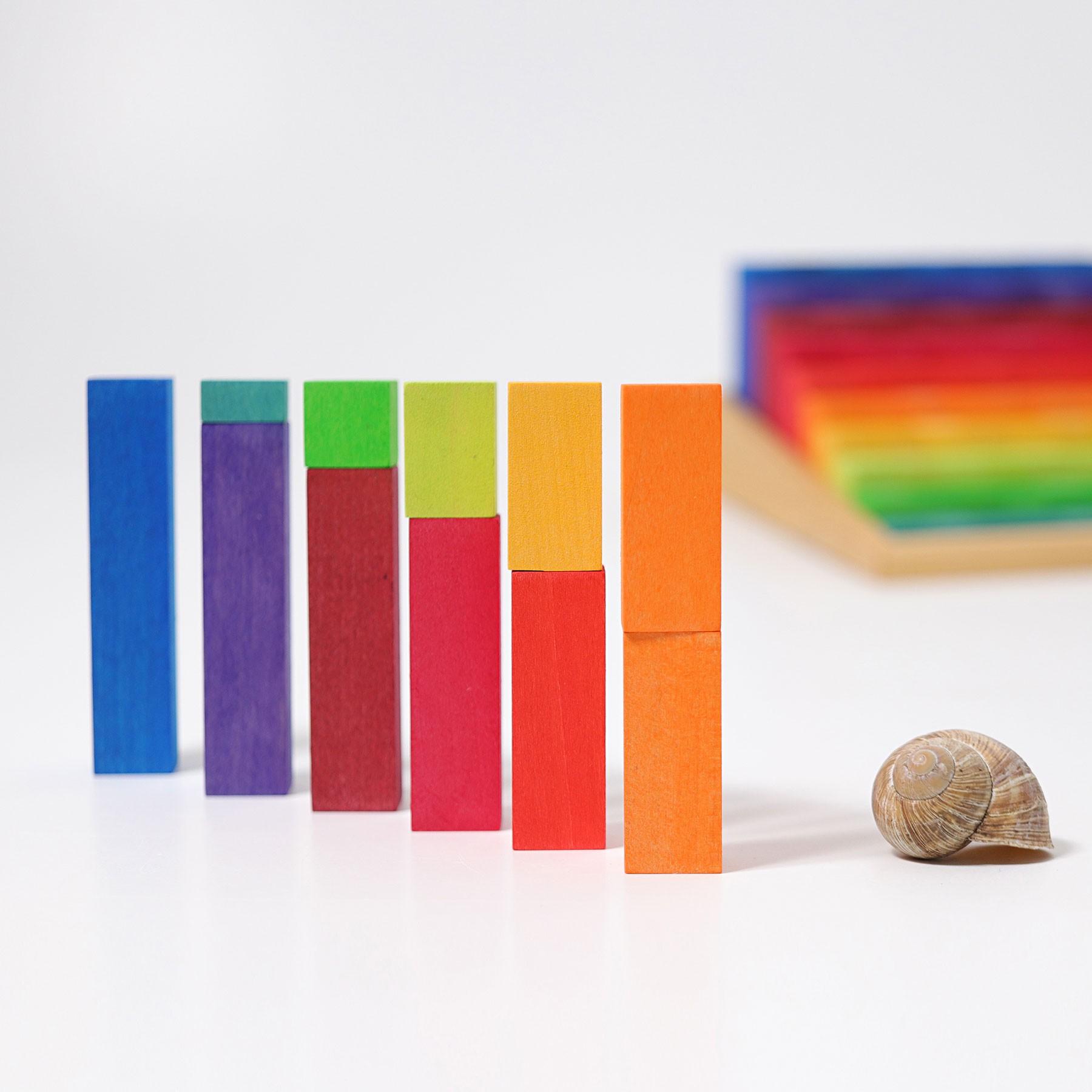 Set educativ lemn - proportii si culori - Grimms Germania 6