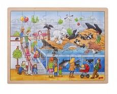 Puzzle Lemn XL - 48 piese - Vizita la Zoo