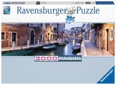 Puzzle panoramic - Seară în Veneţia - 2000 piese - Ravensburger
