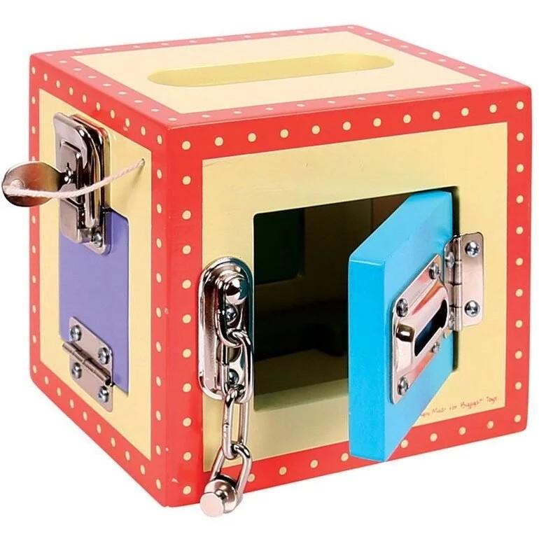 Cutie senzoriala 1 compartiment - jucarie educativa lemn tip Montessori - Bigjigs