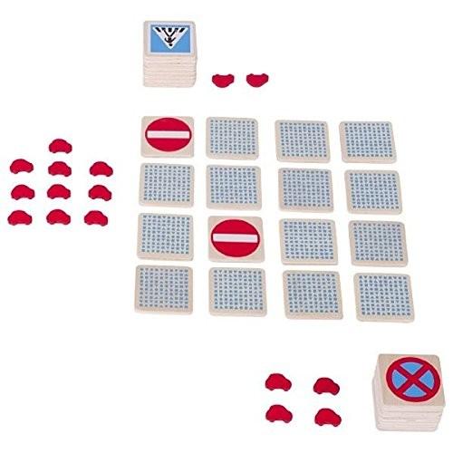 joc memory  lemn - semne circulatie - Goki 2
