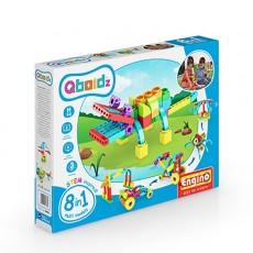 Qboidz - Set asamblare pentru copii mici - 8 in 1 - Aligatorul