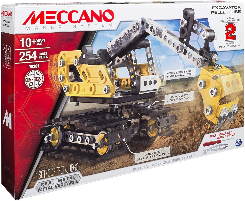 Meccano Buldozer Excavator - set asmablare metalic