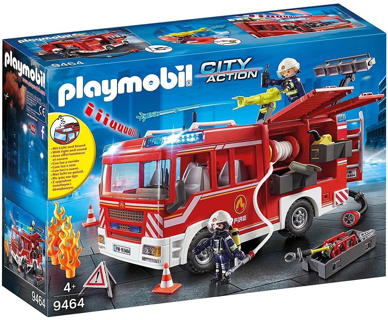 Playmobil 9464 - Camion pompieri cu dotari si lumini si sunet