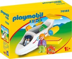 Avion cu pasager - PLAYMOBIL 1.2.3. - PM70185