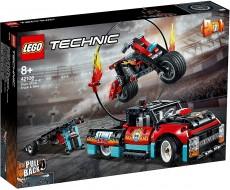Camion si motocicleta pentru cascadorii (42106) - LEGO Technic