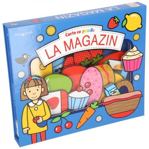 La magazin. Carte cu puzzle - Bebe învață