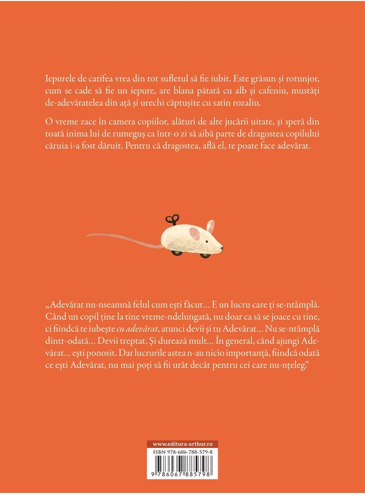 Iepurele de catifea - Margery Williams - Dan Ungureanu - Editura Arthur - 2