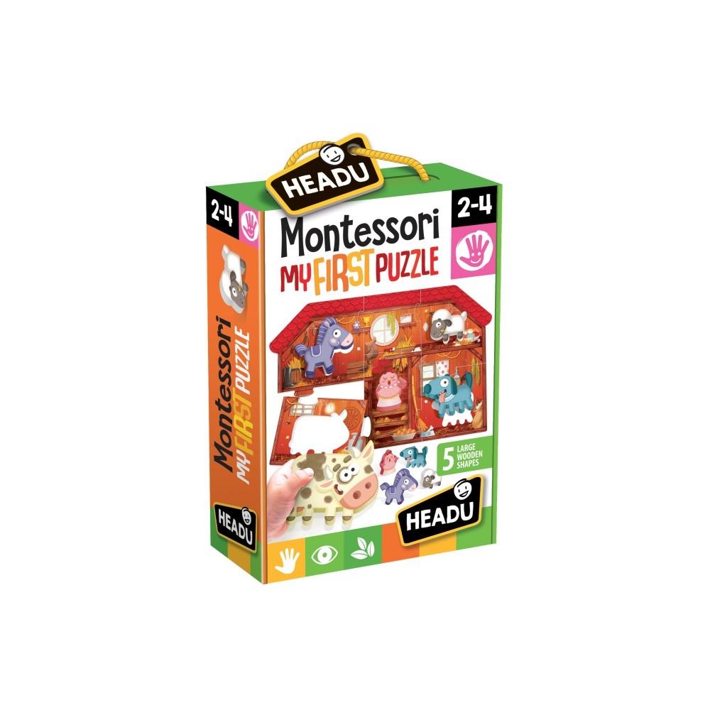 Montessori - Primul meu puzzle Ferma - Headu - 1